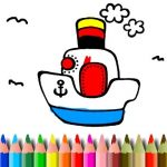 BTS Boat Coloring